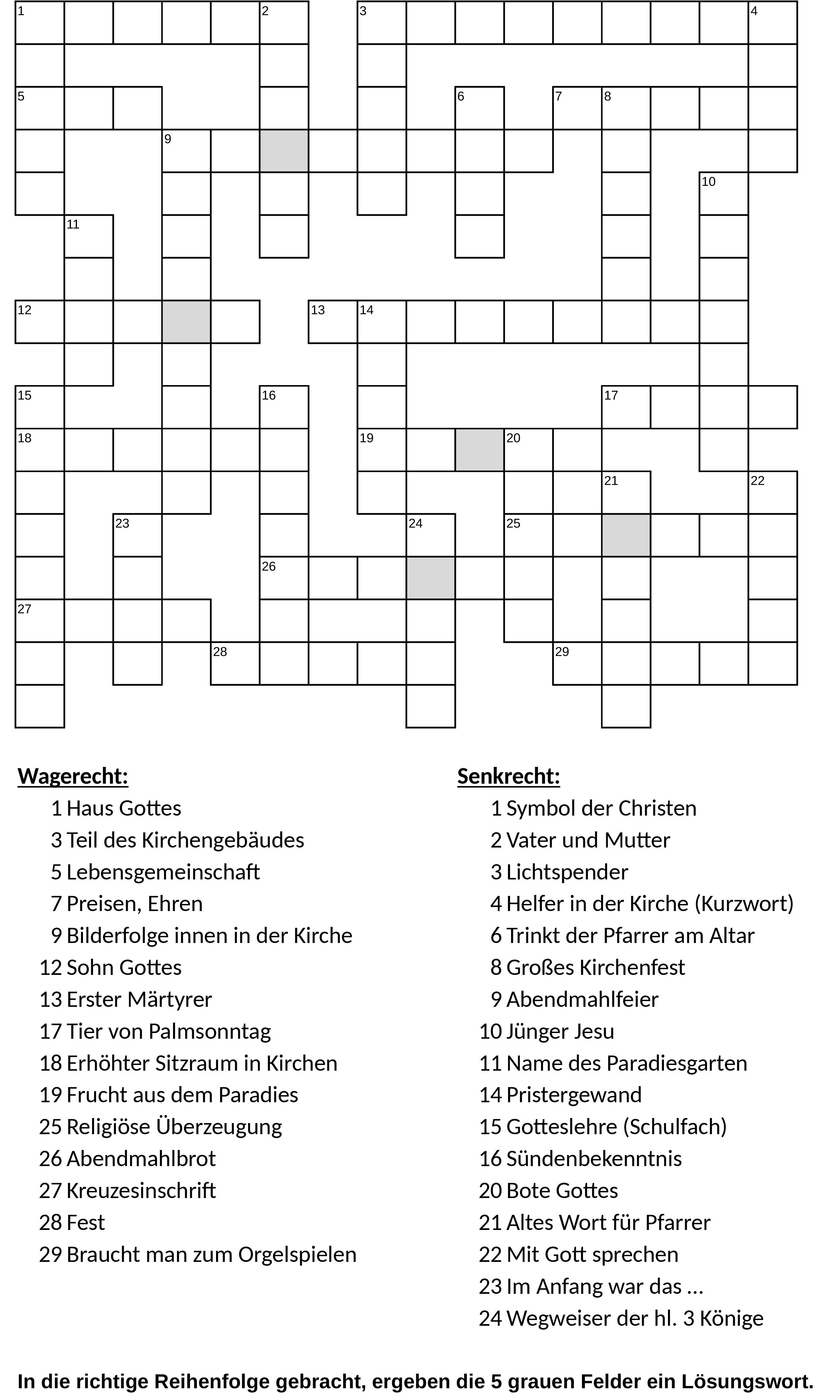 Sudoku und sonstige Rätsel   Pfarreiengemeinschaft Buchloe   Kirche