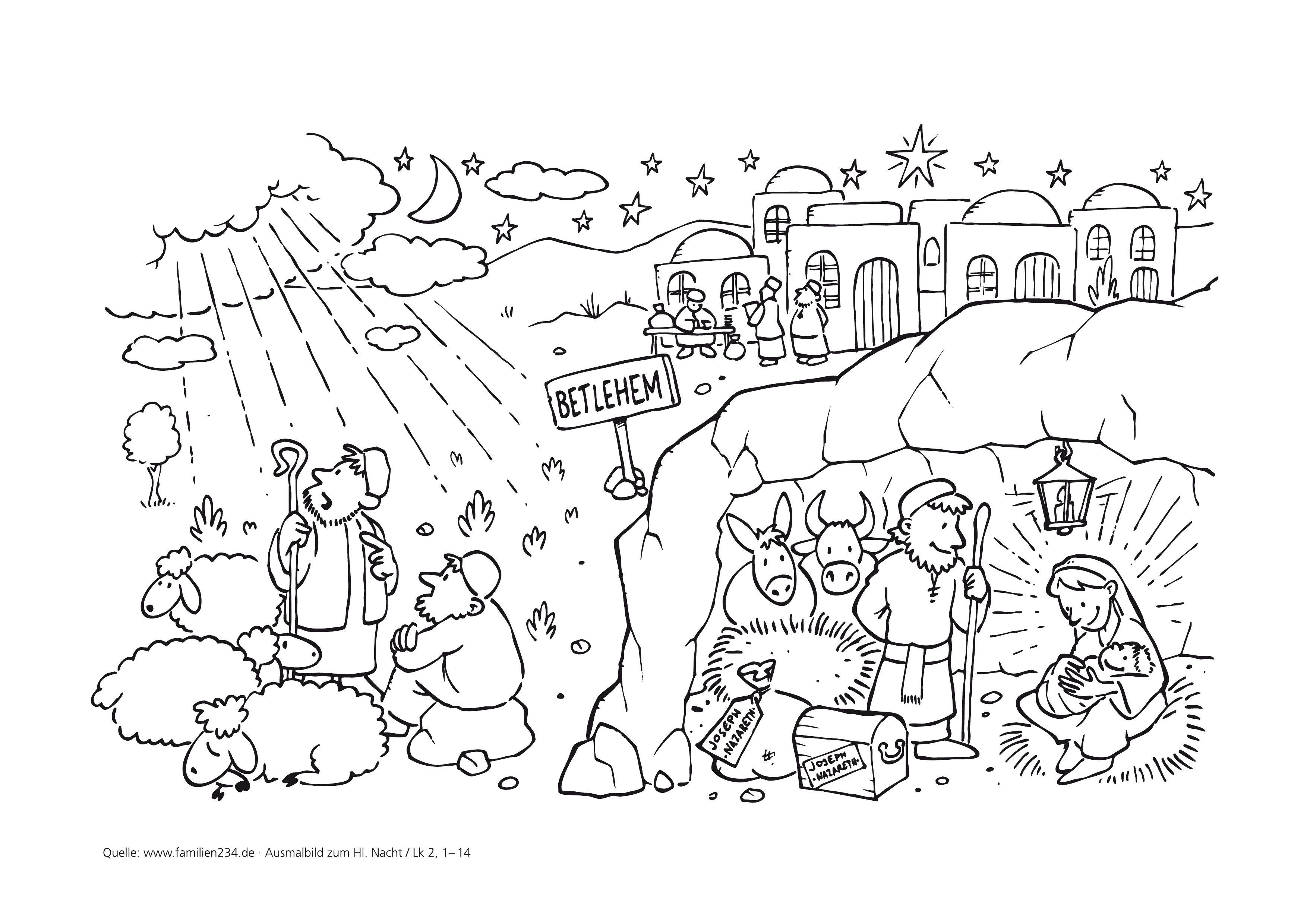 Ausmalbilder - Advent und Weihnachten - Pfarreiengemeinschaft ...